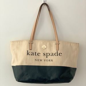 Kate ♠️ Spade LOTT STREET Canvas Tote Bag